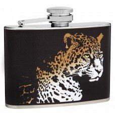 4oz Leopard Face Hip Flask