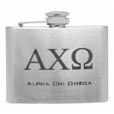 4oz College Sorority Greek Letter Liquor Flask