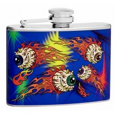 4oz Hip Flask with Scary Floating Eyeballs