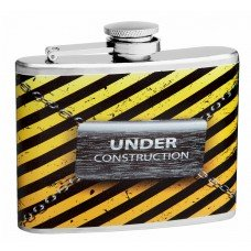 "4oz ""Under Construction"" Liquor Flask"