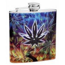6oz Pot (Marijuana) Leaf Hip Flask