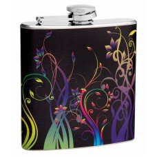 6oz Floral Pattern Hip Flask