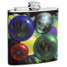 6oz Marijuana Hip Flask