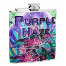 "6oz ""Purple Haze"" Marijuana Hip Flask"