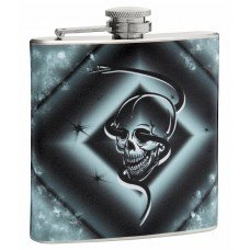 6oz Skull and Snake Hip Flask