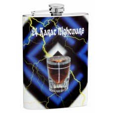 "8oz ""24 Karat Nightmare"" Hip Flask"
