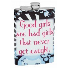 "8oz ""Bad Girls"" Hip Flask"