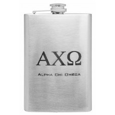 8oz Custom Engraved Sorority Hip Flask with Greek Lettering