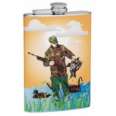 8oz Duck Hunter Hip Flask