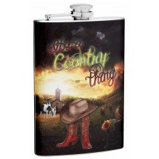 "8oz ""It's a Country Thing"" Hip Flask"