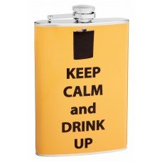 8oz Keep Calm and Drink Up Hip Flask