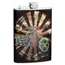 8oz Motorcycle Theme Flask