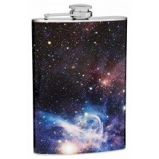 "8oz ""The Cosmos"" Carina Nebula Hip Flask"