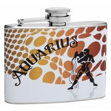 "Aquarius ""Sign of the Zodiac"" 4oz Flask"