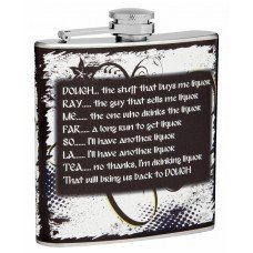 6oz Musical Hip Flask, Do-Re-Mi-Fa