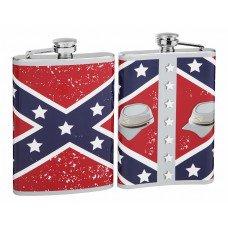 Rebel Flag 8oz Hip Flask