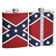 8oz Flask with Historic Confederate Flag