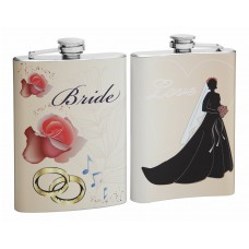 8oz Wedding flask for the Bride