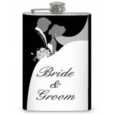 8oz Bride and Groom Memento Flask