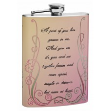 "8oz ""A Part of You"" Hip Flask with Poem"