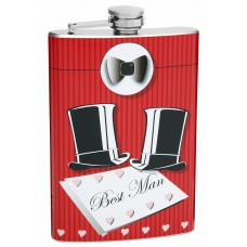 Best Man 8oz Wedding Flask