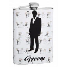 8oz Wedding Flask for the Groom