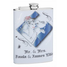 8oz Personalized Hip Flask for Weddings