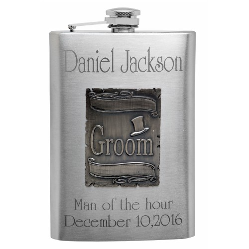 Buy Personalized Wedding Gift Flasks With Free Engraving For The Groom