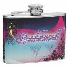 4oz Wedding Hip Flask for Bridesmaids