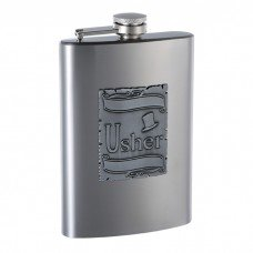 8oz Engraved Wedding Flask for an Usher
