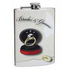 8oz Bride and Groom Wedding Flask