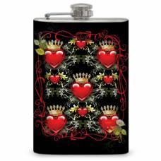 "8oz ""Queen of Hearts"" Hip Flask"