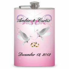 8oz Wedding Anniversary Keepsake Flask