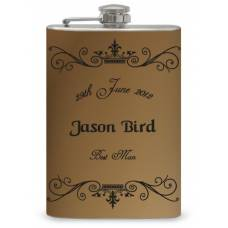 "8oz ""Best Man"" Wrapped Flask"