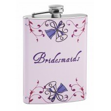 8oz Wedding Flask for Bridesmaids