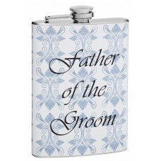 Wedding Flask for Father of the Groom, 8oz