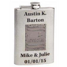 8oz Wedding Flasks for Groomsmen