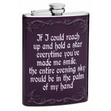 "8oz ""Hold a Star"" Hip Flask"