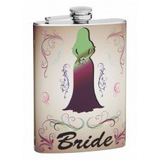 Wedding Theme Hip Flask for the Bride