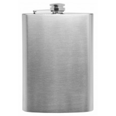 Plain 12oz Stainless Steel Hip Flask - No Personalization