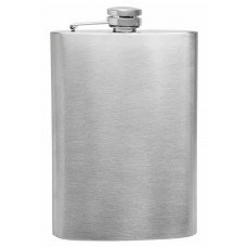 8oz Stainless Steel Hip Flask, Plain - No Personalization
