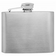 4oz Stainless Steel Hip Flask, Plain  - No Personalization