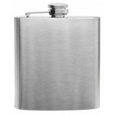 6oz Stainless Steel Hip Flask, Plain - No Personalization