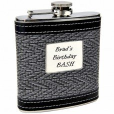 "Two Tone ""Touch of Class"" Hip Flask for Gentlemen"