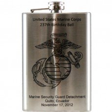 Laser Engraved 8oz Stainless Steel Hip Flask