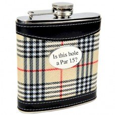 6oz Plaid Flask for Golfers