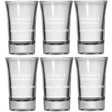 Personalized Shot Glass - Six Pack Shot Glasses - 1.5oz