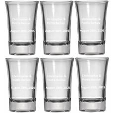 Personalized Shot Glass - Six Pack Shot Glasses - 1.5oz