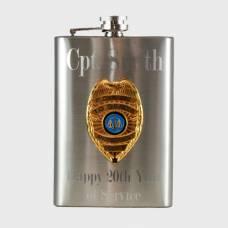 Engravable 8oz Official Police Hip Flask